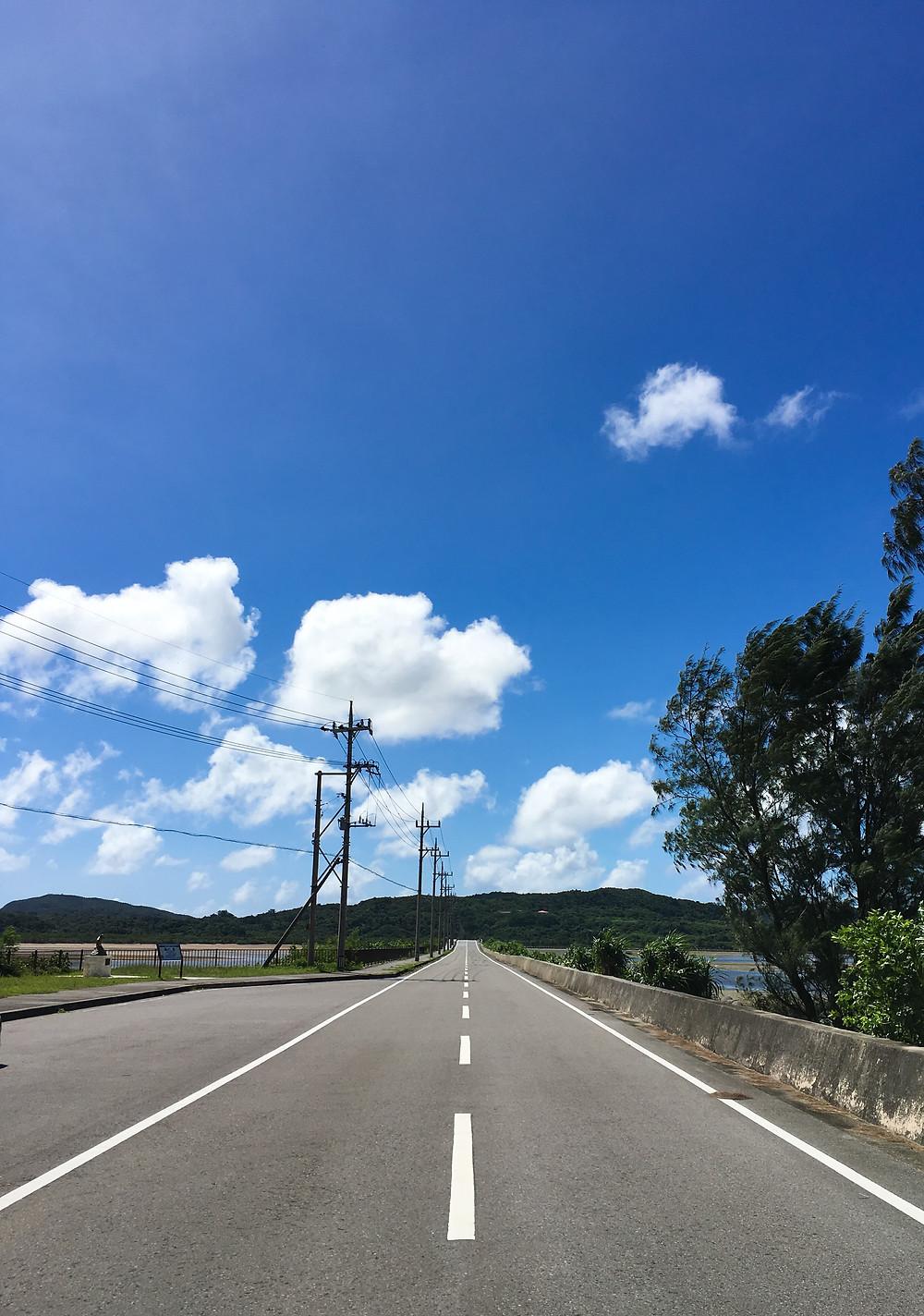 西表島 ドライブ レンタカー 海中道路