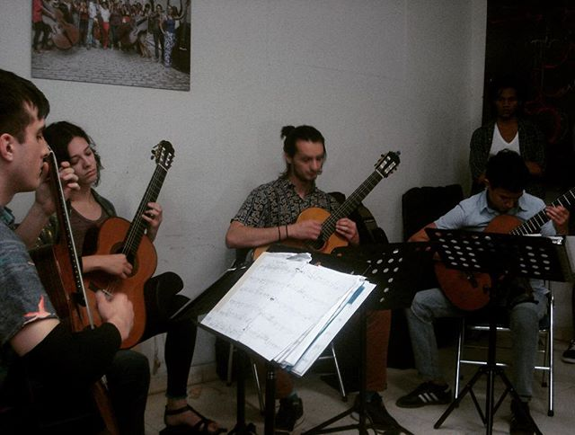 Playing at the Universidad de las Artes