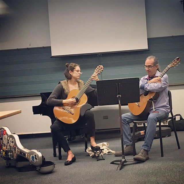 Playing in the Eduardo Martín masterclas