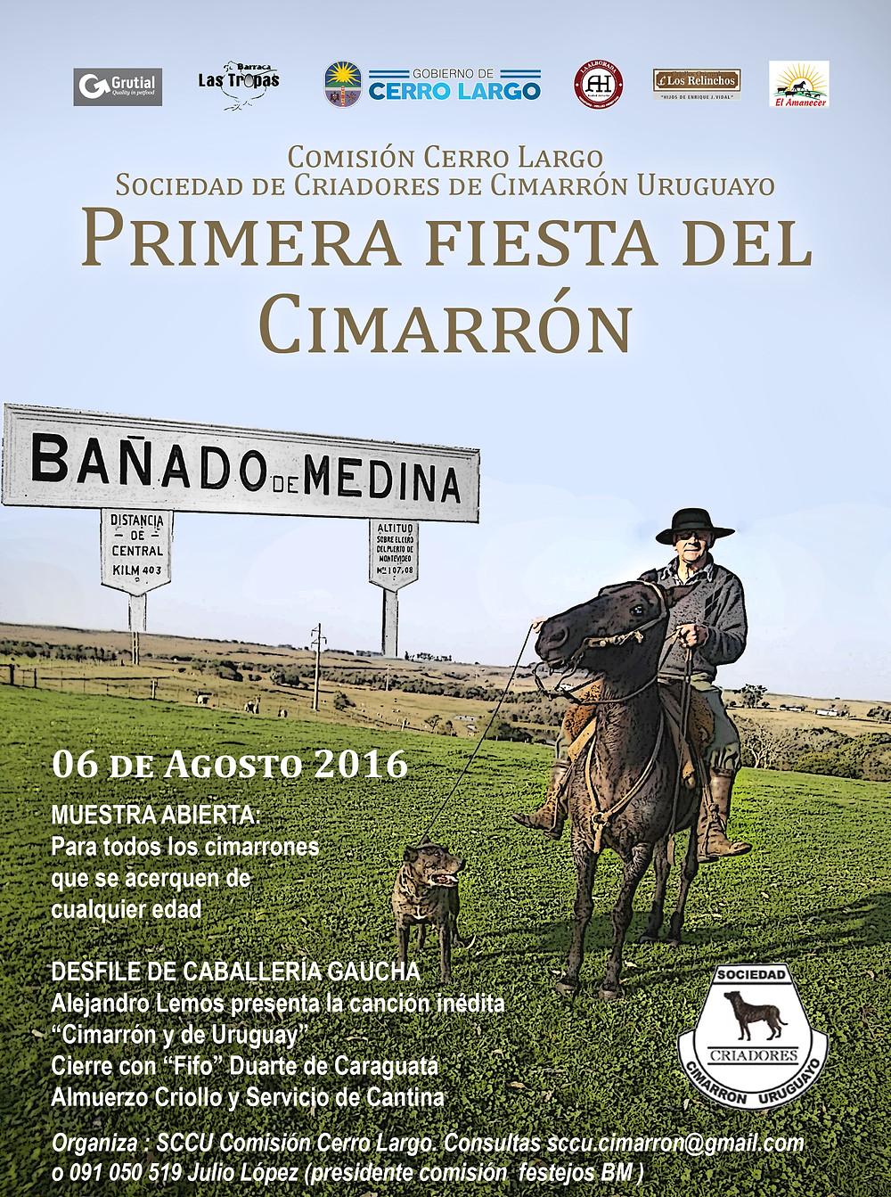 Cimarrón Uruguayo afiche Cerro Largo