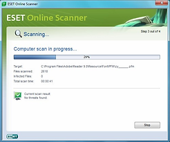 ESET online scanner - 3rd party scans to gaurantee no malware