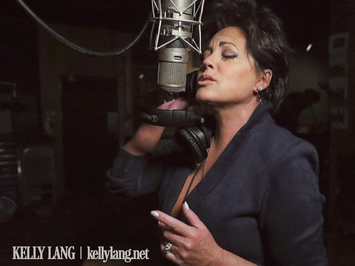 Kelly Lang Microphone 8x10 Photo