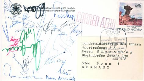 Autogramme der Deutschen Fussball Nationalmannschaft