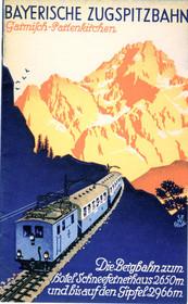 Reiseprospekt der Bayerischen Zugspitzbahn