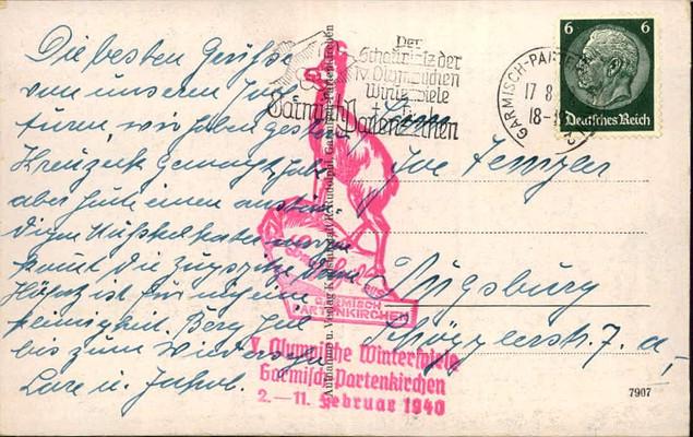 Olympische Winterspiele 1940, in Garmisch - Partenkirchen