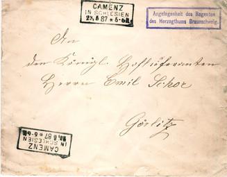 Dienstbrief des Regenten des Herzogtums Braunschweig