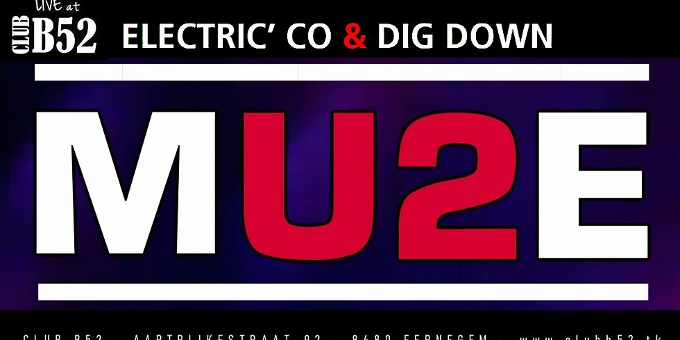 Soirée Tribute U2+Muse au B52 Music Club