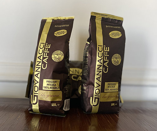 Caffé Italiano 100% arabica - 250 gr EN GRAINS (IN GRANI)
