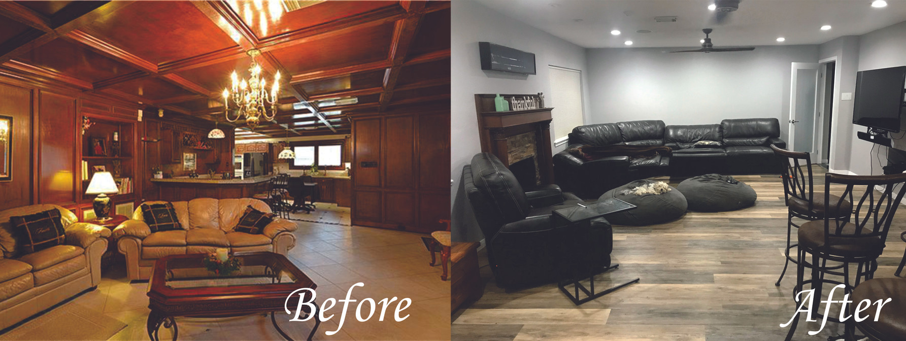 Living Room 1 - Before and After