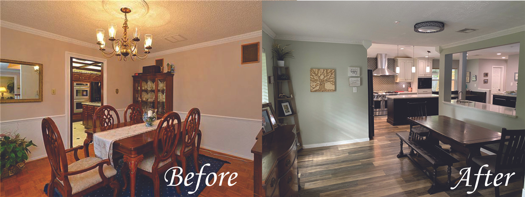 Dinning Room 1 - Before and After