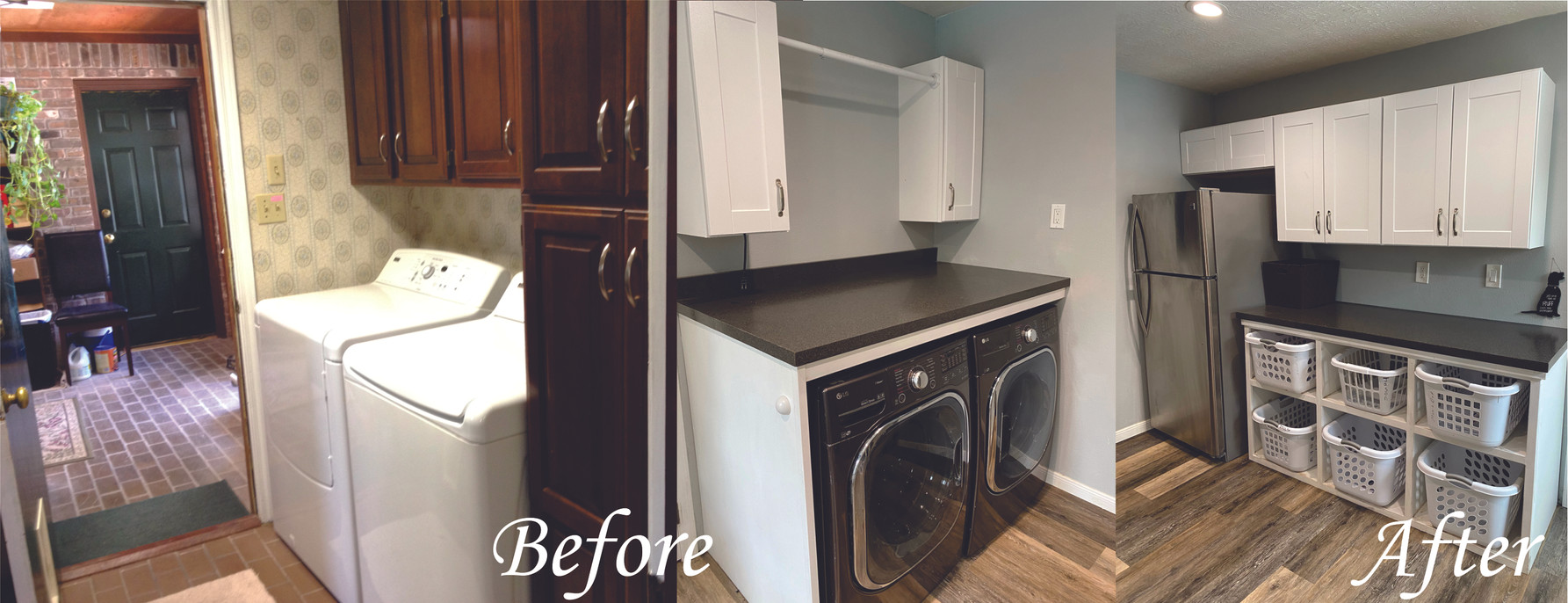 Laundry Room 1 - Before and After