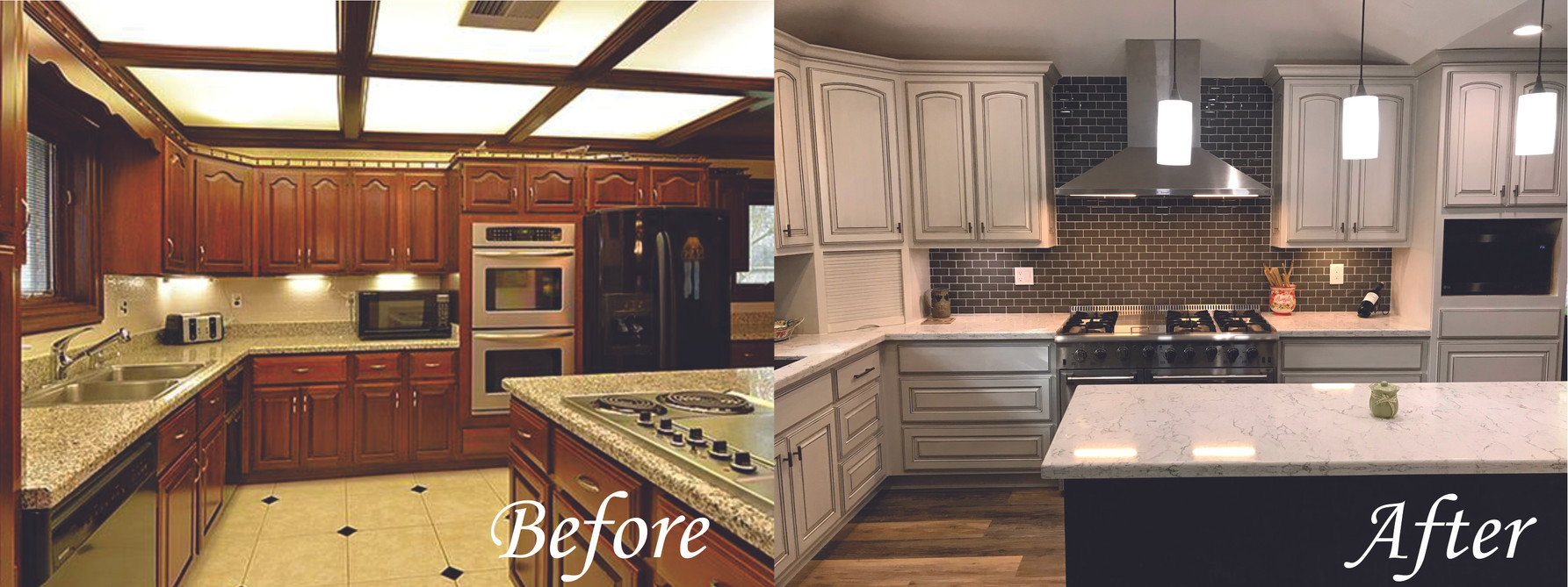 Kitchen side 2 - Before and After