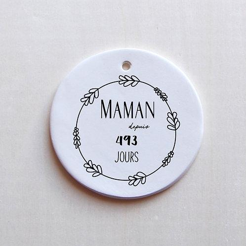 Médaillon Maman depuis.... à personnaliser