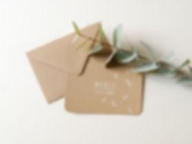 Cartes et enveloppes remerciement