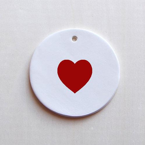 Médaillon coeur rouge