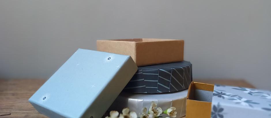 De petites boîtes personnalisées