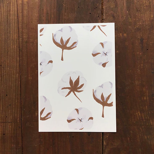Carte postale coton