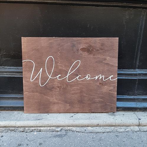 Panneau Welcome 1