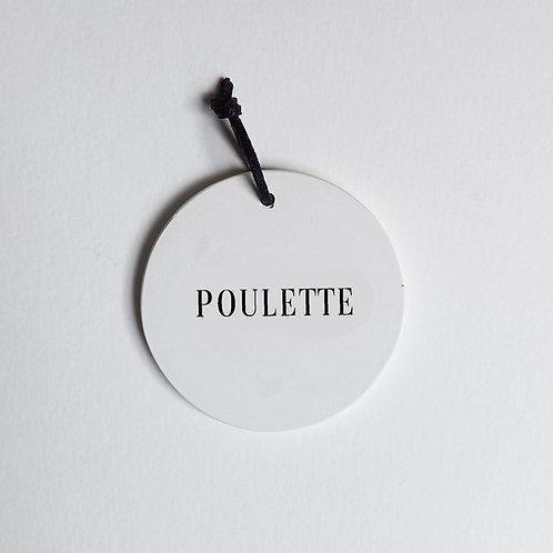 P-Médaillon Poulette
