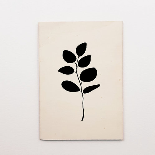 P-Carte bois eucalyptus noir