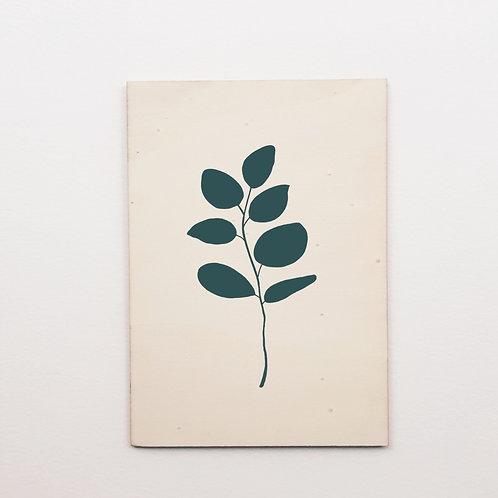P-Carte bois eucalyptus bleu/canard