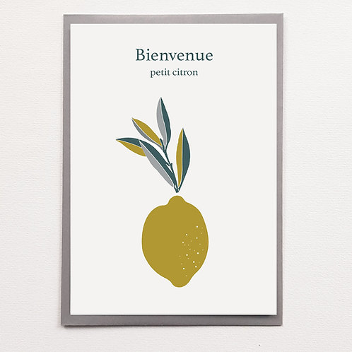 P-Carte Bienvenue Citron