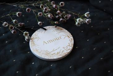 """Médaillon céramique """"Amour"""""""