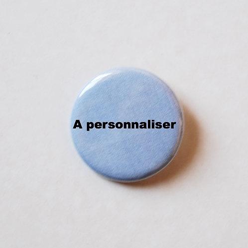 Badge à personnaliser