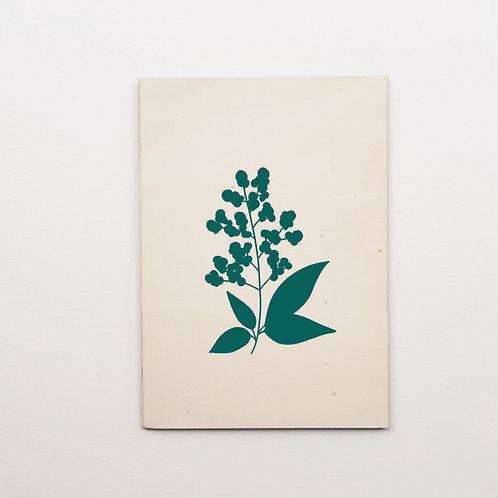 P-Carte bois sureau bleu/canard