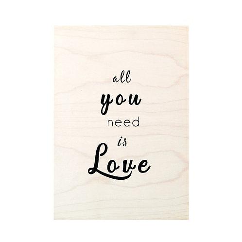 Affiche bois Love