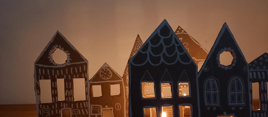 Village de Noël en carton