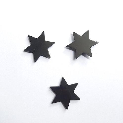 Lot de 3 Bijoux Muraux Etoiles noires