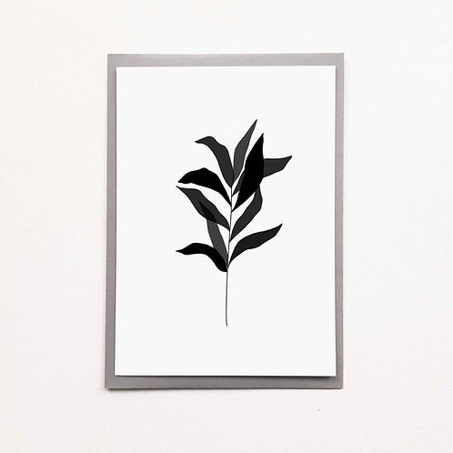 Carte feuillage noir