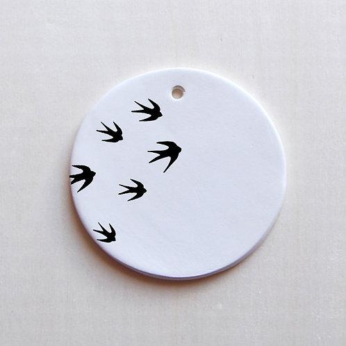 Médaillon Hirondelles noires