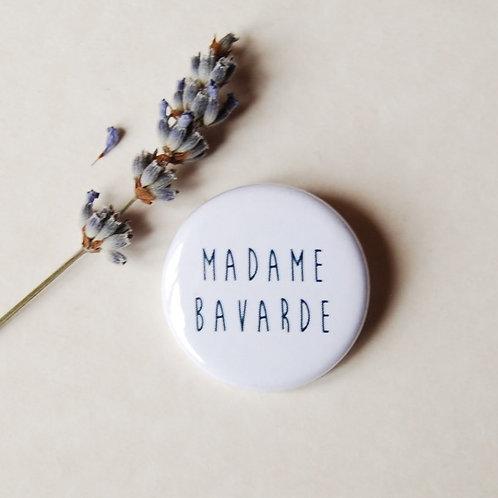 Badge Madame bavarde