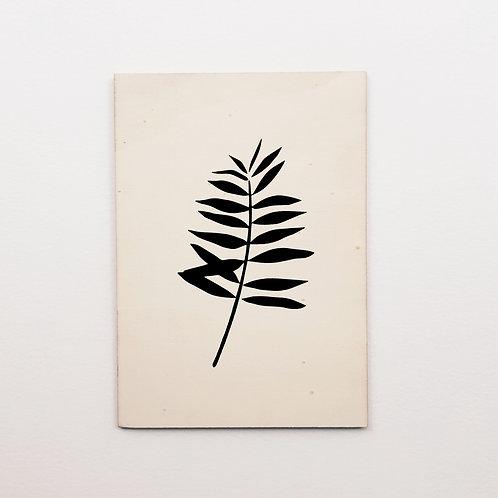 Carte bois palmier noir