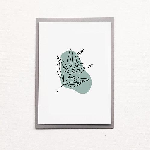 Carte fleur flac