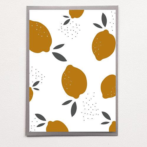 Carte Motif Citrons