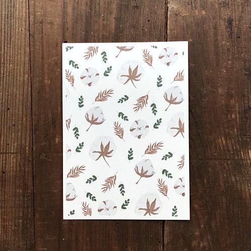 Carte postale coton fleuri