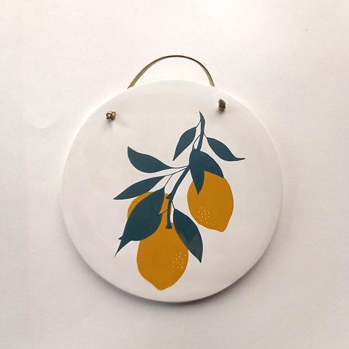 Grand médaillon Citron grappe