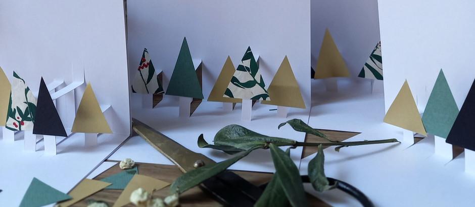 Les cartes forêts de Noël