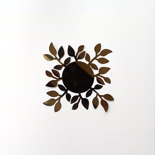 Petit Bougeoir feuilles