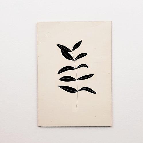 Carte bois olive noir
