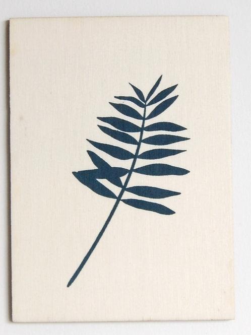 Carte postale palmier bleu vert