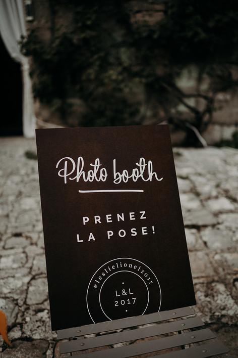 Panneau photo booth