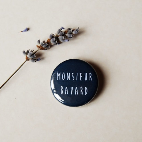 Badge Monsieur bavard