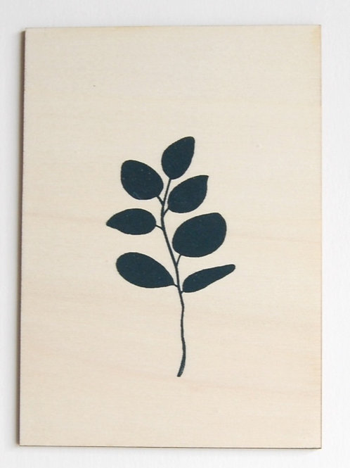 Carte postale  eucalyptus bleu/vert