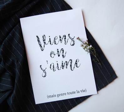 "Affiche ""viens on s'aime"""