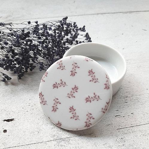 Boite en porcelaine terracotta