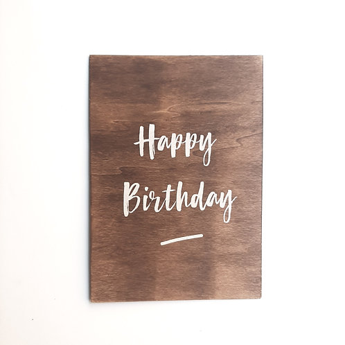 Panneau Happy Birthday 2